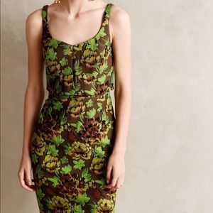 Moulinette soeurs green sylvan sheath dress